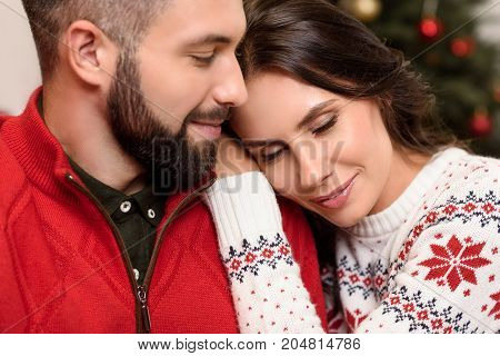 Happy Couple At Christmastime