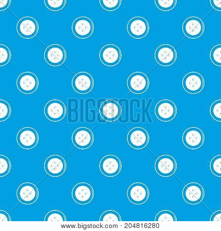 Button for clothing pattern repeat seamless in blue color for any design. Vector geometric illustration