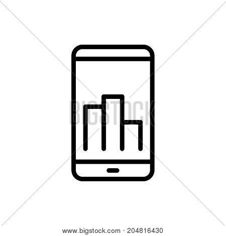 Premium graph icon or logo in line style. High quality sign and symbol on a white background. Vector outline pictogram for infographic, web design and app development.