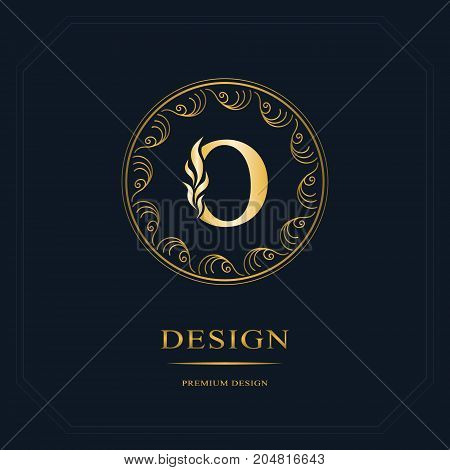 Line graphics monogram. Elegant art logo design. Letter O. Graceful template. Business sign identity for Restaurant Royalty Boutique Cafe Hotel Heraldic Jewelry Fashion. Vector elements