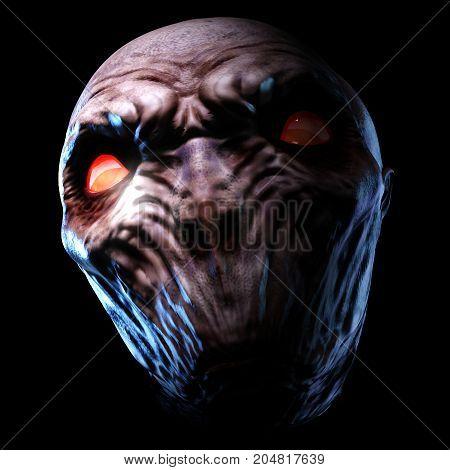 Digital 3D Illustration Of A Creepy Monster