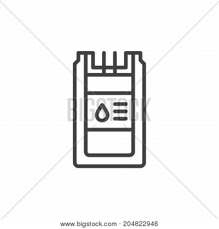 Blood transfusion icon vector, filled flat sign, solid pictogram isolated on white. Charity symbol, logo illustration