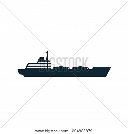 vector oil fuel tanker ship simple flat icon pictogram isolated on a white background. Gas oil fuel, energy power industry symbol, sign