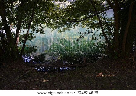 Monticchio Lakes on Mount Vulture (Basilicata, Italy)