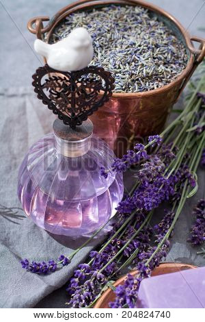 Lavender Perfume Oil, Made From Fresh Lavender Flowers, Aroma Spa Treathment And Bodycare For Women