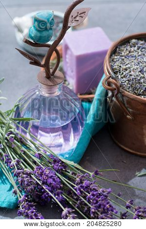 Lavender Soap And Perfume Oil, Made From Fresh Lavender Flowers, Aroma Spa Treathment And Bodycare F