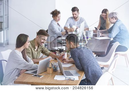 Team Working On Project
