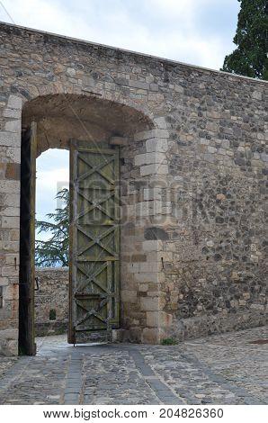 The ancient Melfi Castle in Basilicata, Italy