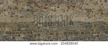 Texture Of An Old Stone Wall. Red-brown Shades.