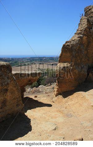 A view of Valle dei Templi, Agrigento, Sicily