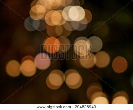 Bokeh alias background is a circle of glowing colors of night
