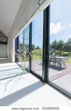 Big Door Windows To Terrace