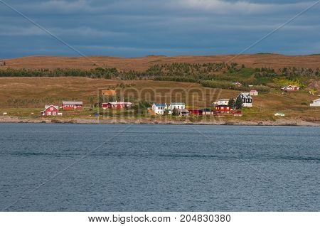 Island Of Hrisey In Iceland