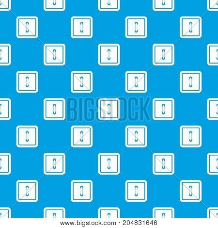 Sewn square button pattern repeat seamless in blue color for any design. Vector geometric illustration