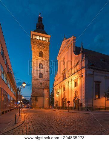 Saint familly church Ceske Budejovice Czech Republic CZ
