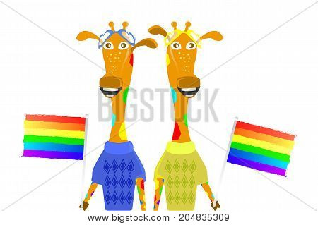 Sexy Minority Concept. Gays, Lesbians