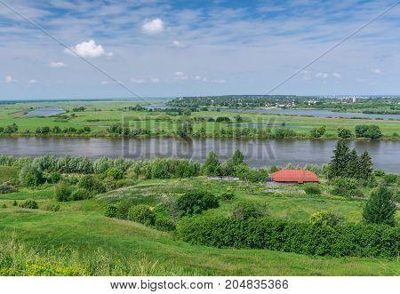 Oka River (Volga tributary) near Spassk-Ryazansky town . Ryazan region Central Russia