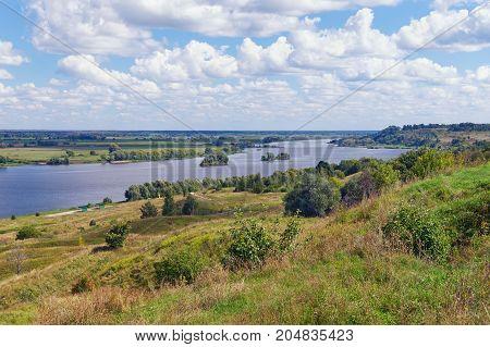 Bank of Oka river - Volga tributary - near Konstantinovo village. Central Russia Ryazan region
