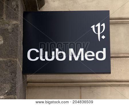 Club Med Sign On A Building