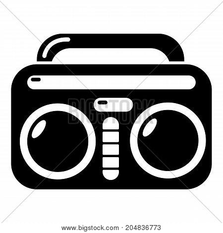 Vintage boombox icon . Simple illustration of vintage boombox vector icon for web design isolated on white background