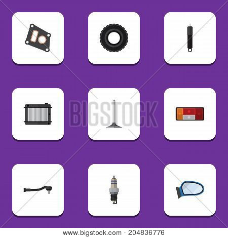 Flat Icon Auto Set Of Heater, Input Technology, Combustion And Other Vector Objects