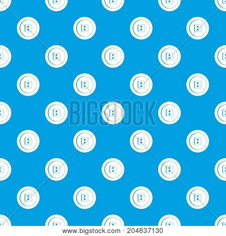 Dress round button pattern repeat seamless in blue color for any design. Vector geometric illustration