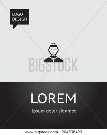 Vector Illustration Of Religion Symbol On Cleric Icon