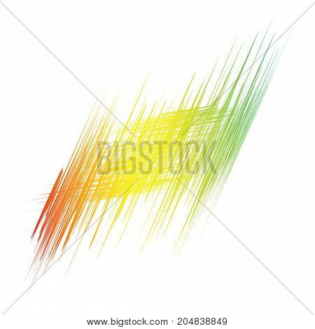 Colorful lines hatch texture on white background. Vector art.