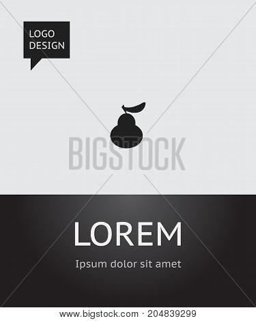 Vector Illustration Of Fruits Symbol On Pear Icon
