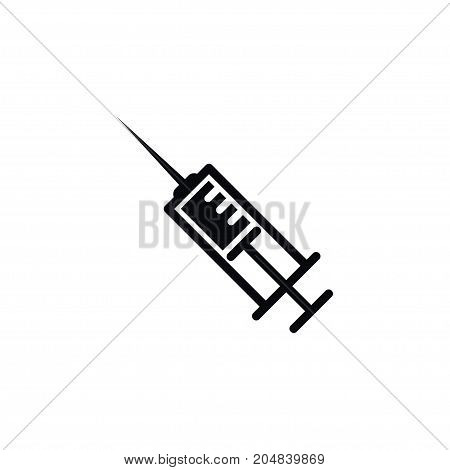 Vaccine Vector Element Can Be Used For Syringe, Vaccine, Injection Design Concept.  Isolated Syringe Icon.