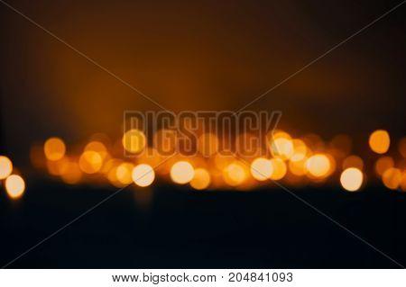 Blurred Background, Defocused Lights Of The Garland