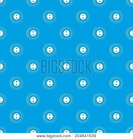Button pattern repeat seamless in blue color for any design. Vector geometric illustration