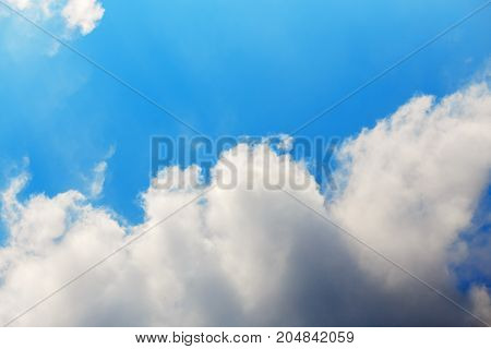 White clouds on the blue sky. Sky pattern, sky background