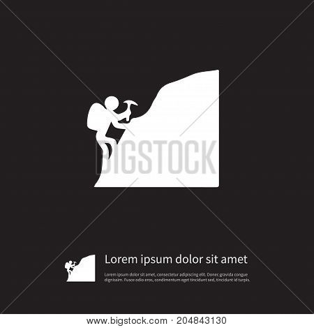 Mountaineer Vector Element Can Be Used For Mountaineer, Cragsman, Piolet Design Concept.  Isolated Piolet Icon.