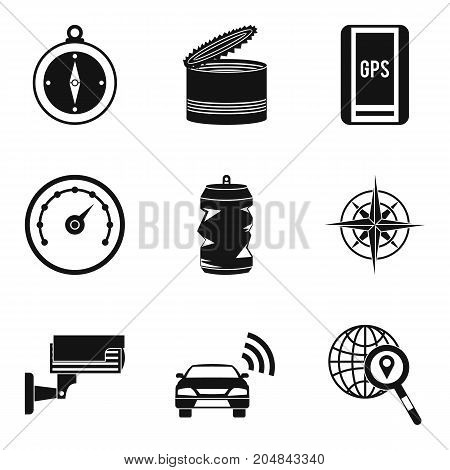 Remote control icons set. Simple set of 9 remote control vector icons for web isolated on white background