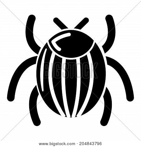 Garden beetle bug icon . Simple illustration of garden beetle bug vector icon for web design isolated on white background