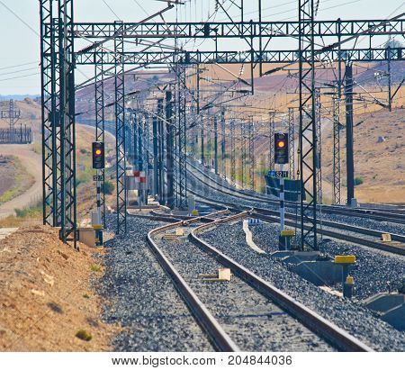 Train railway high speed journey modern line