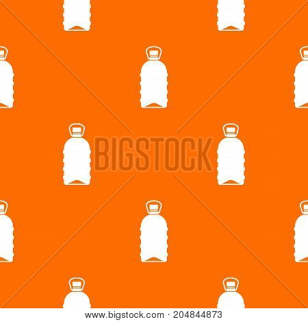 Big bottle pattern repeat seamless in orange color for any design. Vector geometric illustration