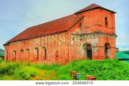 Abandoned Church of Boris and Gleb in Rostov Veliky, the Golden Ring of Russia