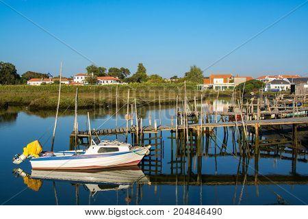 view of the river sado estuary in Comporta Alentejo Portugal