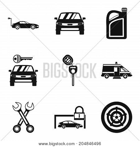 Lock icons set. Simple set of 9 lock vector icons for web isolated on white background