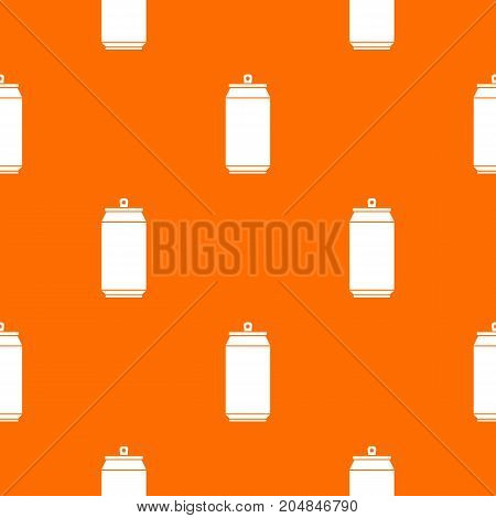 Can pattern repeat seamless in orange color for any design. Vector geometric illustration