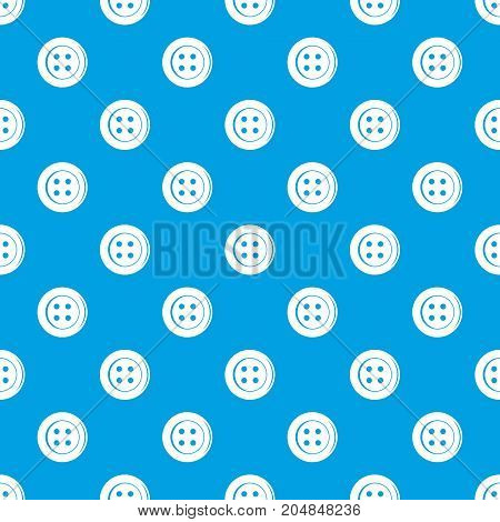 Sewing button pattern repeat seamless in blue color for any design. Vector geometric illustration