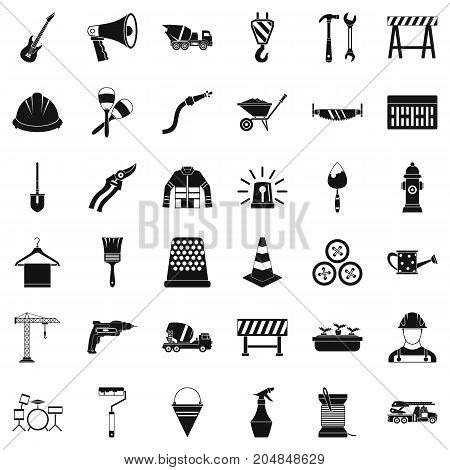 Hammer icons set. Simple style of 36 hammer vector icons for web isolated on white background