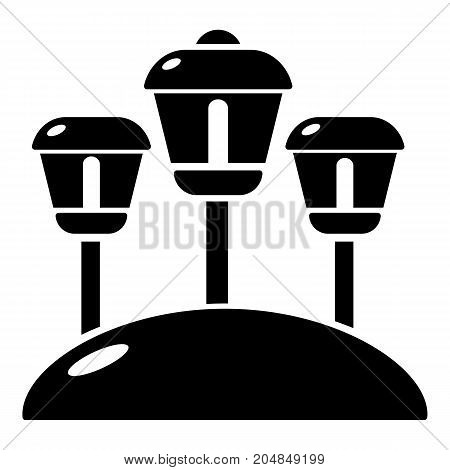 Solar lamps garden light icon . Simple illustration of solar lamps garden light vector icon for web design isolated on white background