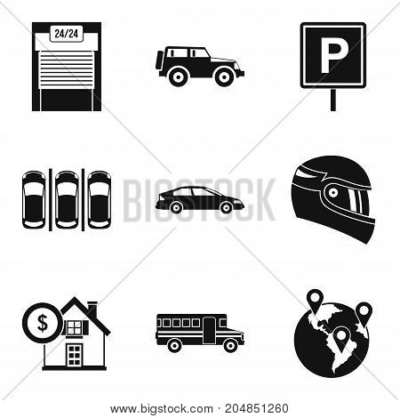 Fine icons set. Simple set of 9 fine vector icons for web isolated on white background