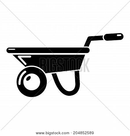 Wheelbarrow icon . Simple illustration of wheelbarrow vector icon for web design isolated on white background