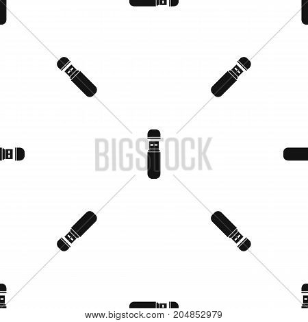 USB flash drive pattern repeat seamless in black color for any design. Vector geometric illustration