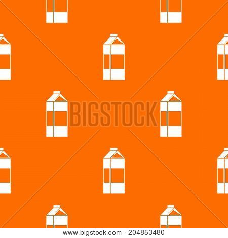 Milk pattern repeat seamless in orange color for any design. Vector geometric illustration