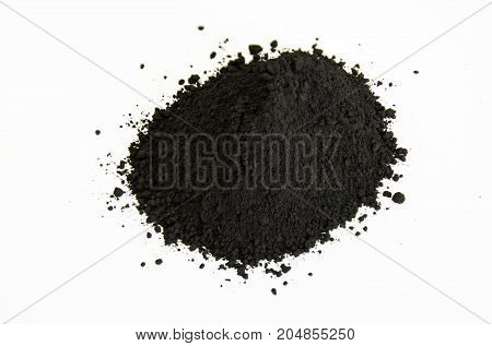 Black Pigment Isolated Over White